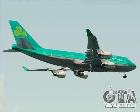Boeing 747-400 Aer Lingus für GTA San Andreas rechten Ansicht