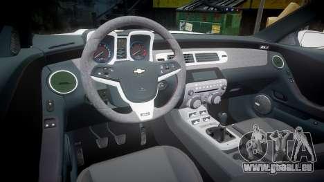 Chevrolet Camaro Z28 2014 pour GTA 4 Vue arrière