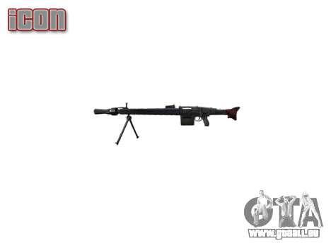 Deutsche Maschinengewehr MG3 icon2 für GTA 4 dritte Screenshot