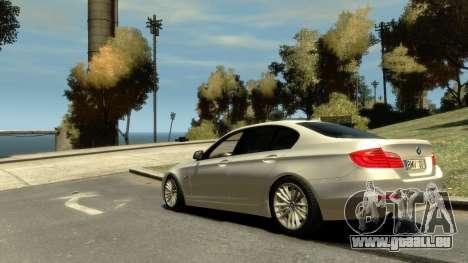 BMW 525 F10 pour GTA 4 est une gauche