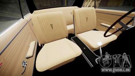 Pontiac GTO 1965 Flames pour GTA 4 est une vue de l'intérieur