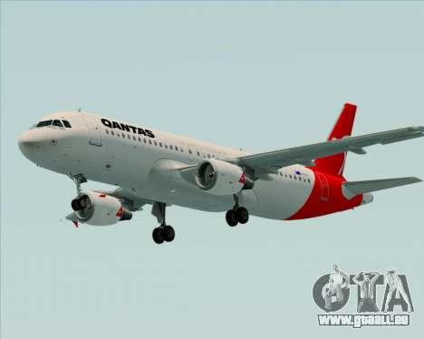 Airbus A320-200 Qantas für GTA San Andreas Unteransicht