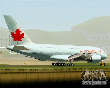 Airbus A380-800 Air Canada pour GTA San Andreas vue arrière