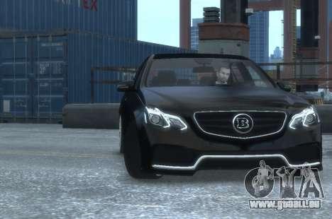 Mercedes-Benz E63 BRABUS 850 pour GTA 4 est une vue de l'intérieur