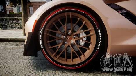 Chevrolet Corvette Z06 2015 TireBr2 pour GTA 4 Vue arrière