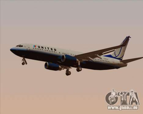 Boeing 737-800 United Airlines pour GTA San Andreas salon