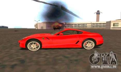 Ferrari 599 Beta v1.1 pour GTA San Andreas laissé vue