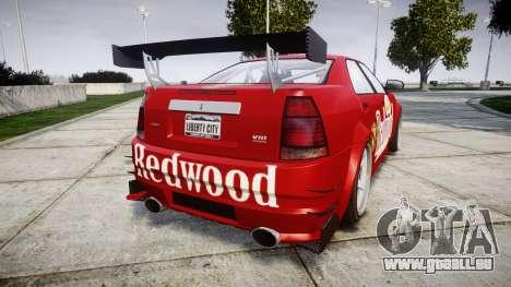 Albany Presidente Racer [retexture] Redwood pour GTA 4 Vue arrière de la gauche
