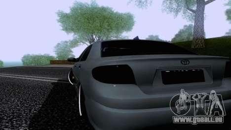 Toyota Vios Extreme Edition pour GTA San Andreas laissé vue