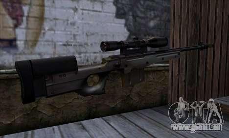 AW50 from Far Cry pour GTA San Andreas deuxième écran