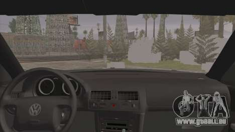 Volkswagen Golf 4 R36 pour GTA San Andreas sur la vue arrière gauche