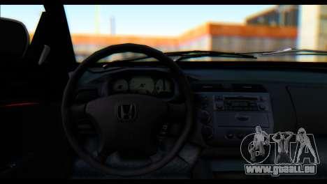 Honda Civic VteC pour GTA San Andreas sur la vue arrière gauche