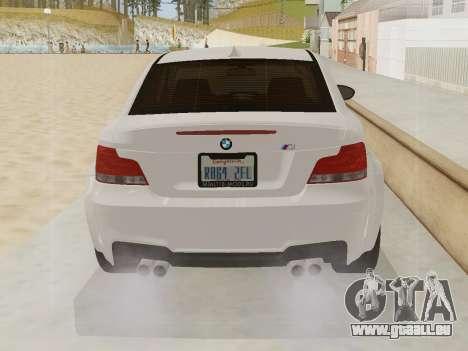 BMW 1M 2011 pour GTA San Andreas vue de côté