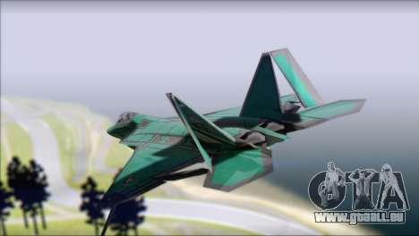 F-22A Raptor Unpainted Factory Texture pour GTA San Andreas laissé vue