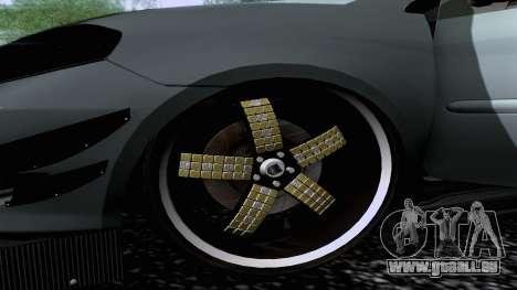 Toyota Vios Extreme Edition pour GTA San Andreas sur la vue arrière gauche
