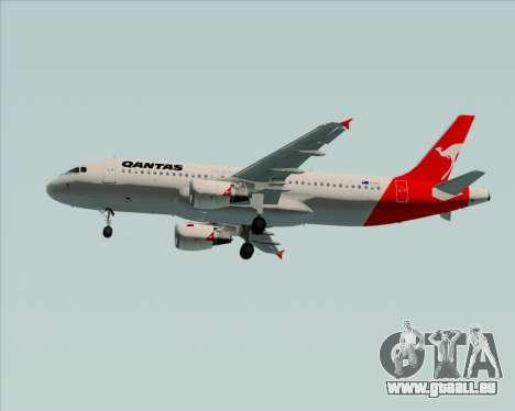 Airbus A320-200 Qantas für GTA San Andreas Seitenansicht