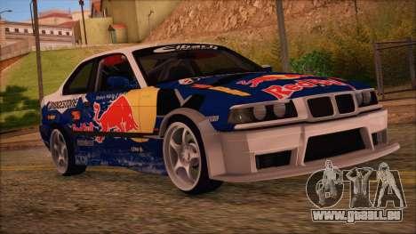 BMW E36 Coupe Bridgestone Red Bull für GTA San Andreas