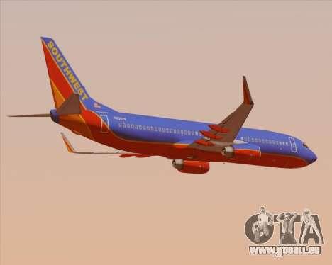 Boeing 737-800 Southwest Airlines für GTA San Andreas rechten Ansicht