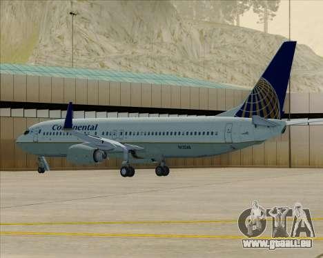 Boeing 737-800 Continental Airlines pour GTA San Andreas vue de dessous