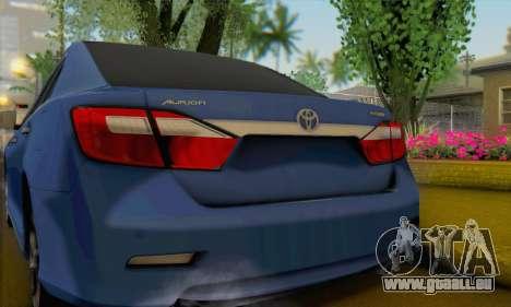 Toyota Aurion pour GTA San Andreas sur la vue arrière gauche