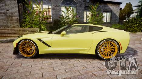 Chevrolet Corvette Z06 2015 TireGY für GTA 4 linke Ansicht