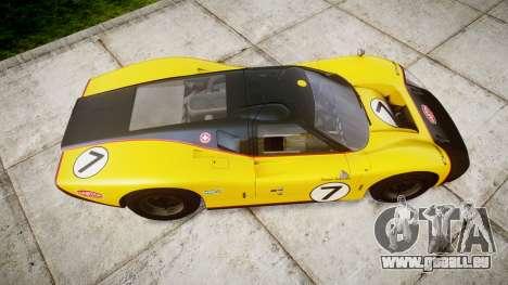 Ford GT40 Mark IV 1967 PJ Fernando Pedace 7 pour GTA 4 est un droit