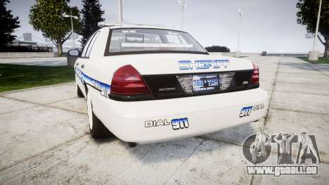 Ford Crown Victoria [ELS] Liberty County Sheriff für GTA 4 hinten links Ansicht