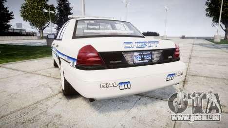 Ford Crown Victoria [ELS] Liberty County Sheriff pour GTA 4 Vue arrière de la gauche