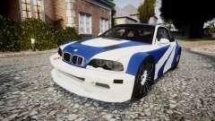 BMW M3 E46 GTR Most Wanted plate NFS für GTA 4