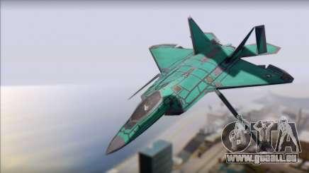 F-22A Raptor Unpainted Factory Texture für GTA San Andreas