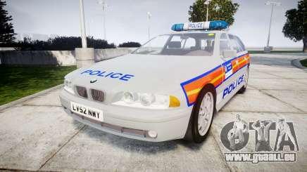 BMW 525i E39 Touring Police [ELS] JSARVV pour GTA 4