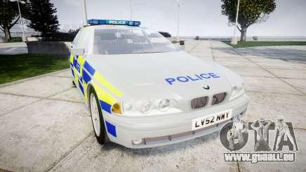BMW 525i E39 Touring Police [ELS] BTV für GTA 4