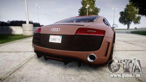 Audi R8 plus 2013 Wald rims für GTA 4 hinten links Ansicht