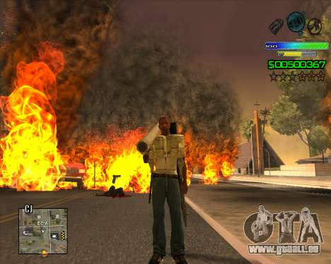 C-HUD Simple pour GTA San Andreas