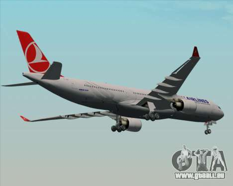 Airbus A330-300 Turkish Airlines pour GTA San Andreas vue intérieure