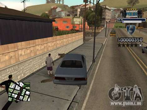 Police HUD für GTA San Andreas her Screenshot