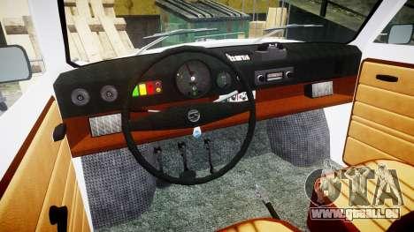 Trabant 601 deluxe 1981 Police für GTA 4 Rückansicht