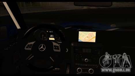 Mercedes-Benz G65 AMG pour GTA San Andreas sur la vue arrière gauche