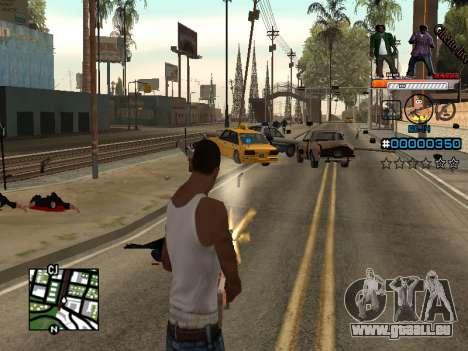 C-HUD Ghetto Live pour GTA San Andreas troisième écran