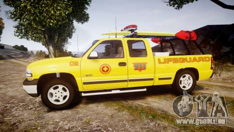 Chevrolet Silverado Lifeguard Beach [ELS] für GTA 4 linke Ansicht