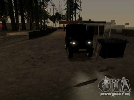 UAZ 469 für GTA San Andreas Innenansicht