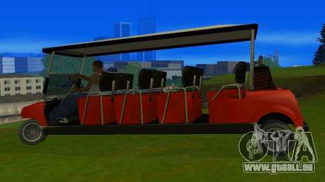 Caddy Restyle pour GTA San Andreas laissé vue