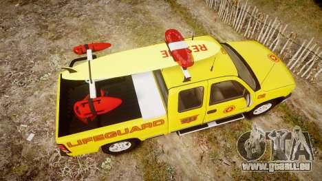 Chevrolet Silverado Lifeguard Beach [ELS] für GTA 4 rechte Ansicht
