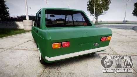 Fiat 128 Berlina für GTA 4 hinten links Ansicht