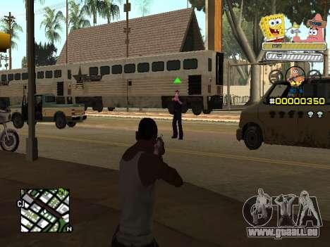 C-HUD Sponge Bob pour GTA San Andreas troisième écran