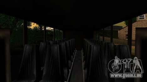 Entraîneur d'intérieur 3D pour GTA San Andreas sur la vue arrière gauche