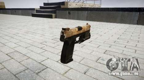 Pistole HK USP 45 dusty für GTA 4 Sekunden Bildschirm