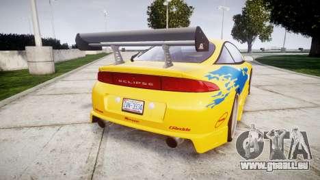 Mitsubishi Eclipse GSX 1995 pour GTA 4 Vue arrière de la gauche