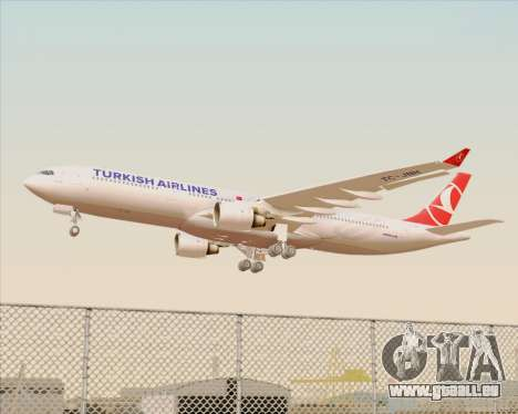 Airbus A330-300 Turkish Airlines für GTA San Andreas Räder