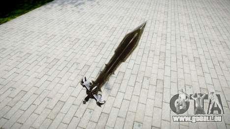 L'épée-le chevalier Noir- pour GTA 4 secondes d'écran